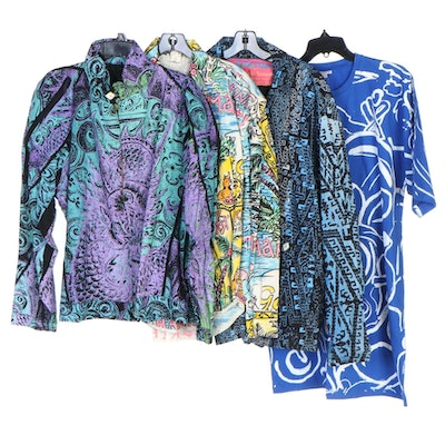 Space Islands, Golden Door and Other Abstract/Graffiti Style Tops and Jackets