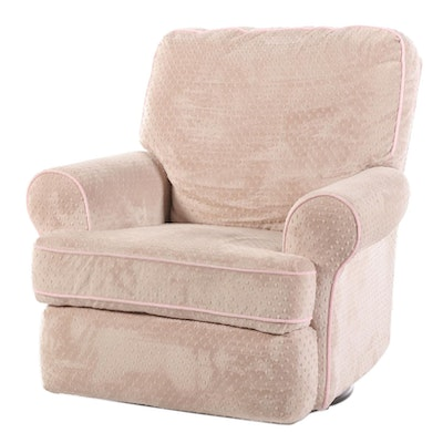 Upholstered Swivel Rocking Lounge Chair