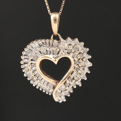 10K Diamond Heart Necklace