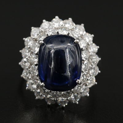 Palais Platinum Ringdant 7.98 CT Sapphire and 2.25 CTW Diamond Converter Ring