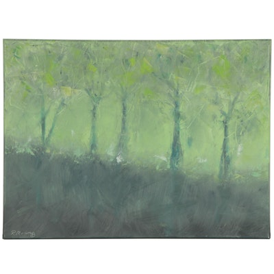 """Rebecca Manns Oil Painting """"Lost to the Mist"""", 2020"""