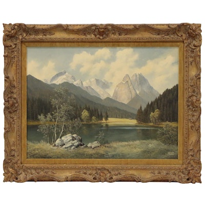 Bavarian Landscape Oil Painting from The W. T. Burger Company