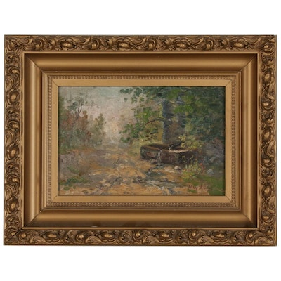 May Ames Landscape Landscape Oil Painting, Late 19th-Early 20th Century