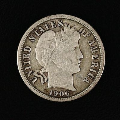 1906 Barber Silver Dime