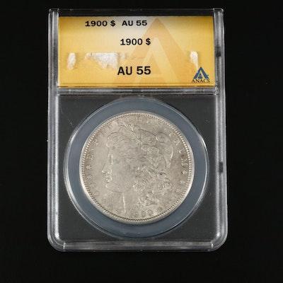 ANACS Graded AU55 1900 Morgan Silver Dollar