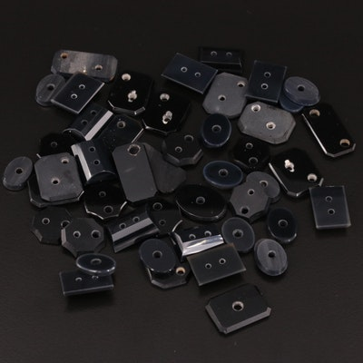 Loose Black Onyx Gemstones