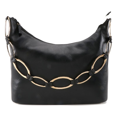 Gucci Heavy Chain Black Leather Shoulder Bag from Saks Fifth Avenue