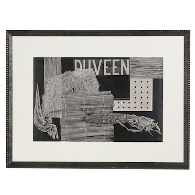 "Scratchboard Drawing Still Life ""Duveen"""