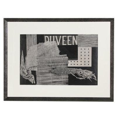 """Scratchboard Drawing Still Life """"Duveen"""""""