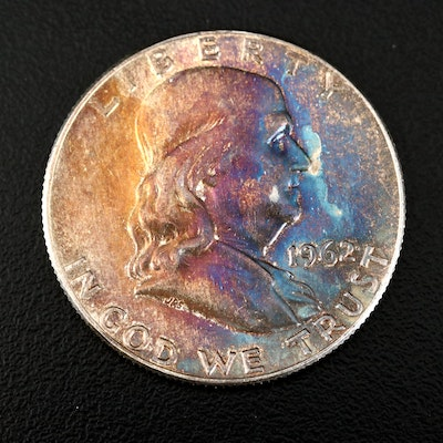Toned 1962-D Franklin Silver Half Dollar