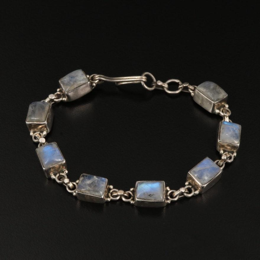 Sterling Moonstone Bracelet