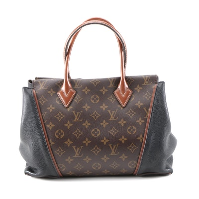 Louis Vuitton W PM Tote in Monogram Canvas, Veau Cachemire and Nomade Leather