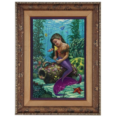 "Wil Cormier Limited Edition Mermaid Giclée ""Discovery"", 21st Century"