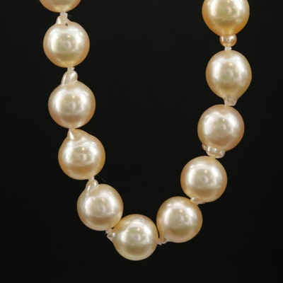 Opera Length Strand of Pearls with 14K Closure