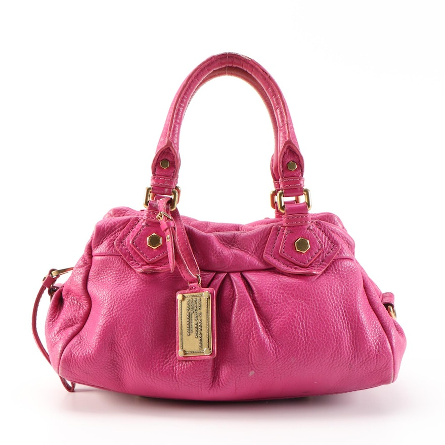 Marc by Marc Jacobs Classic Q Baby Groovee Satchel in Fuchsia Grained Leather