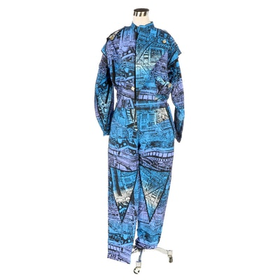Ombré Abstract Style Jumpsuit
