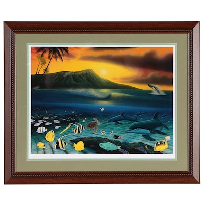 """Robert Wyland Limited Edition Offset Lithograph """"Dawn of Life"""", 21st Century"""