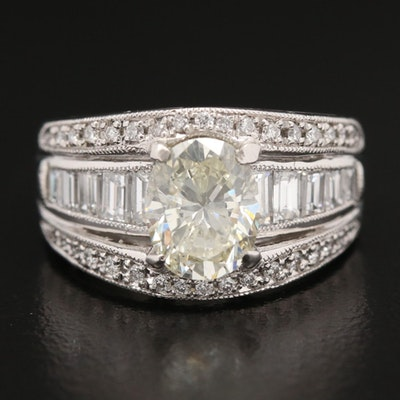 Platinum 2.84 CTW Diamond Ring