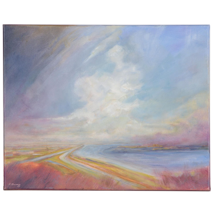 """Rebecca Manns Oil Painting """"Sky Guardian"""", 2020"""
