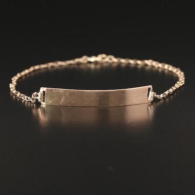 10K Gold ID Bracelet