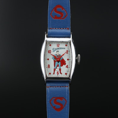 Superman Wristwatch By Ingraham U.S.A., Circa 1946