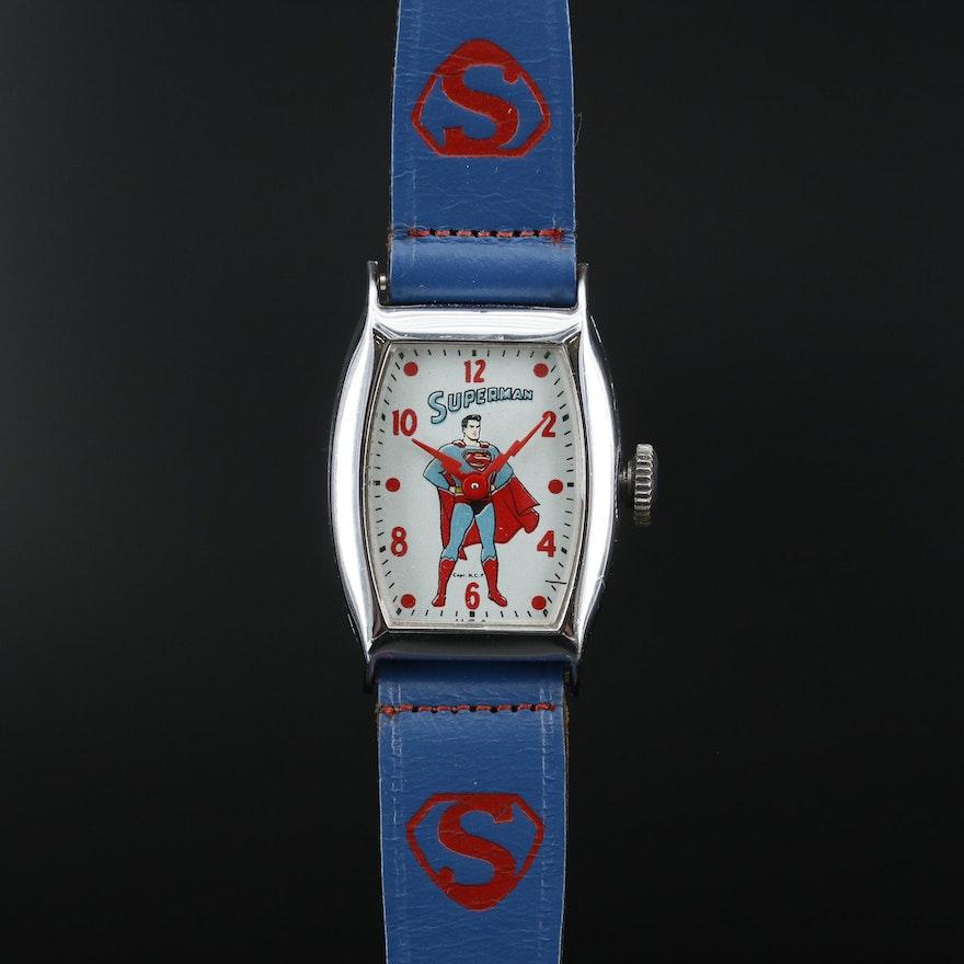 Superman Wristwatch By Ingraham U.S.A., Circa 1946