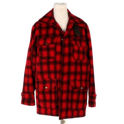 Woolrich Red and Black Plaid Hunting Jacket, Vintage