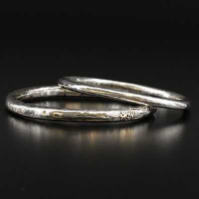 Ippolita Sterling Silver Hammered Signature Bangle Bracelets