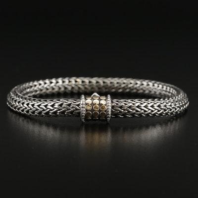 """John Hardy """"Dot"""" Sterling Silver Bracelet with 18K Accents"""