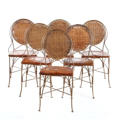 Six Cafe Style Dining Chairs