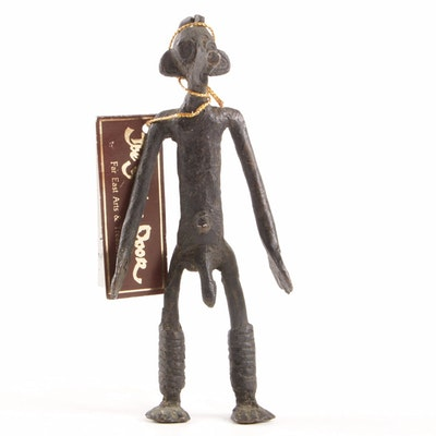 West African Brass Male Figure