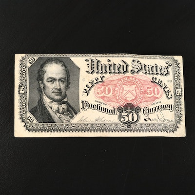 1875 50-Cent Fractional Currency Note, Fifth Issue