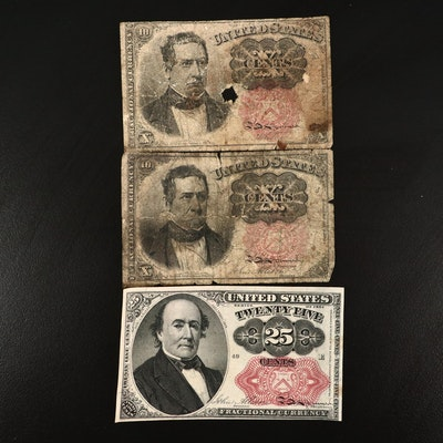 Fifth Issue Twenty-Five and Ten-Cent Fractional Currency Notes