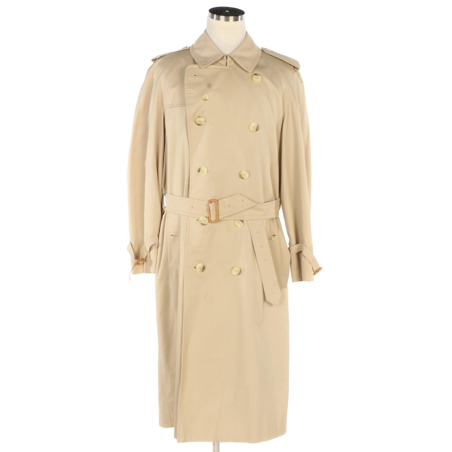 Men's Burberry Double-Breasted Trench Coat