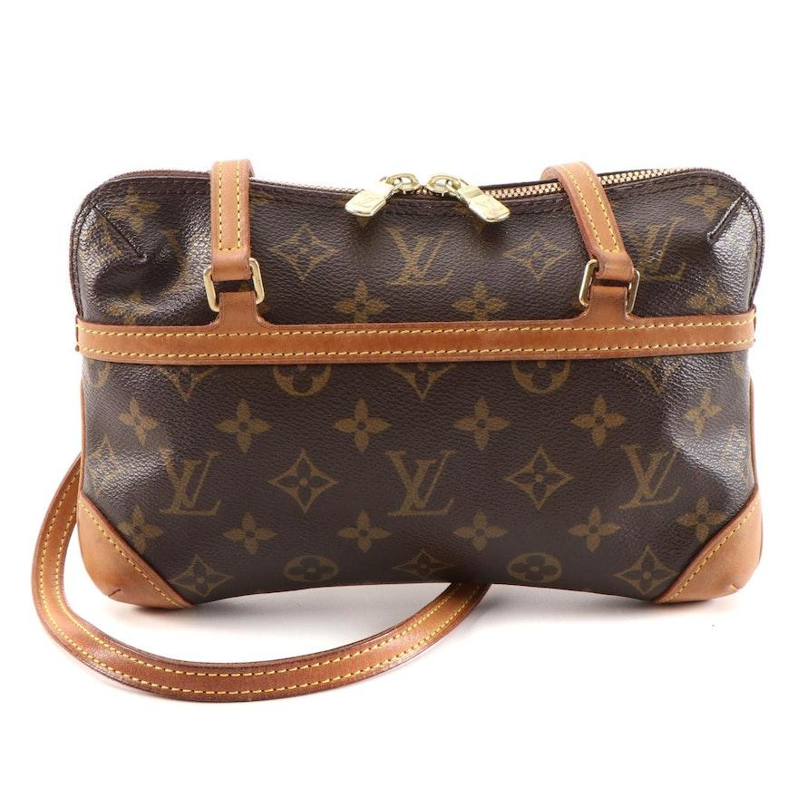 Louis Vuitton Coussin PM Shoulder Bag in Monogram Canvas and Vachetta Leather