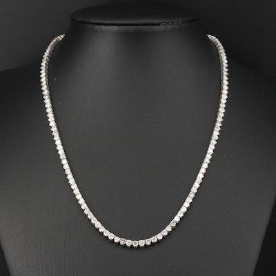 14K Gold 10.02 CTW Diamond Riviera Necklace