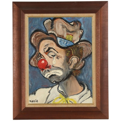 Portrait Oil Painting of Clown