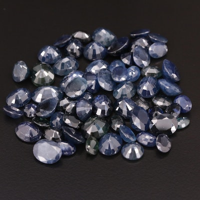 Loose 110.67 CTW Round and Oval Faceted Sapphires