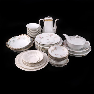 Haviland, Spode, and Other Porcelain Dinnerware and Serveware