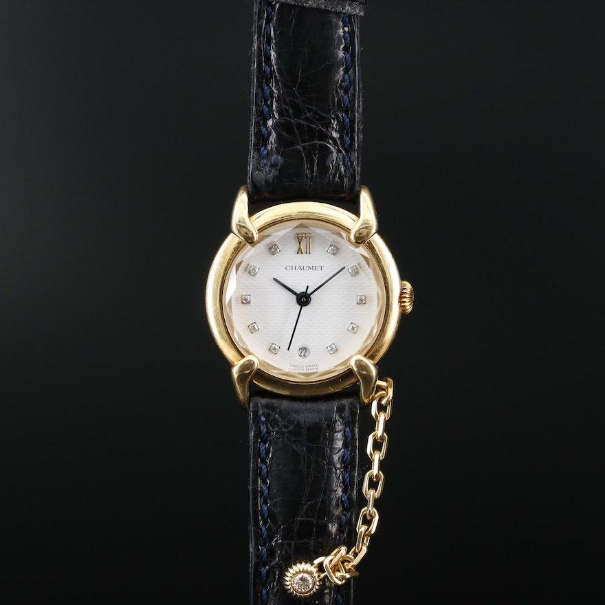18K and Diamond Chaumet Paris Wristwatch