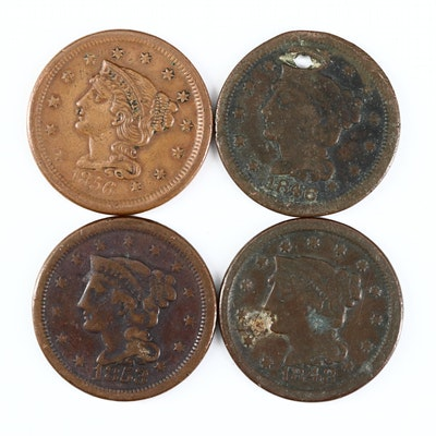 Four Braided Hair Coronet Large Cents