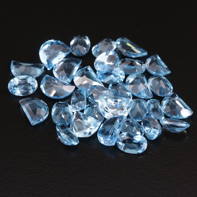 Loose 20.76 CTW Mixed Faceted Topaz