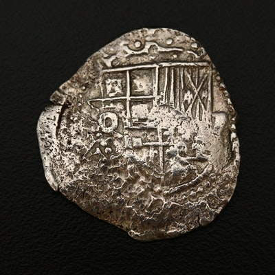 Spanish Silver Cob Coin, 17th Century