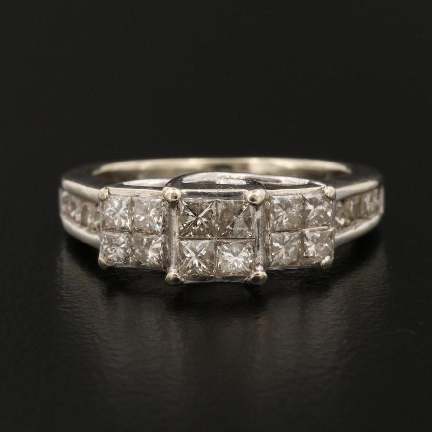 10K Gold 1.22 CTW Diamond Ring