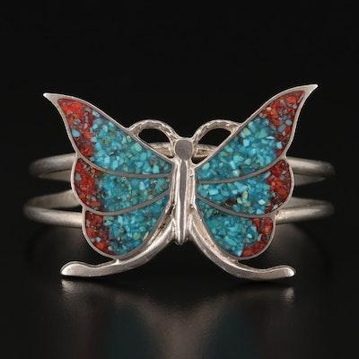 Southwestern Style Butterfly Stone in Resin Cuff