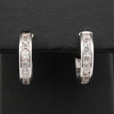 14K Cubic Zirconia Small Hoop Earrings