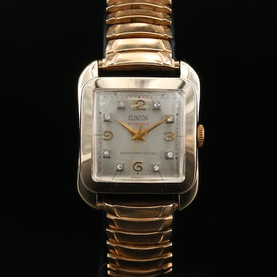 Clinton 21 Jewel German Stem Wind Wristwatch