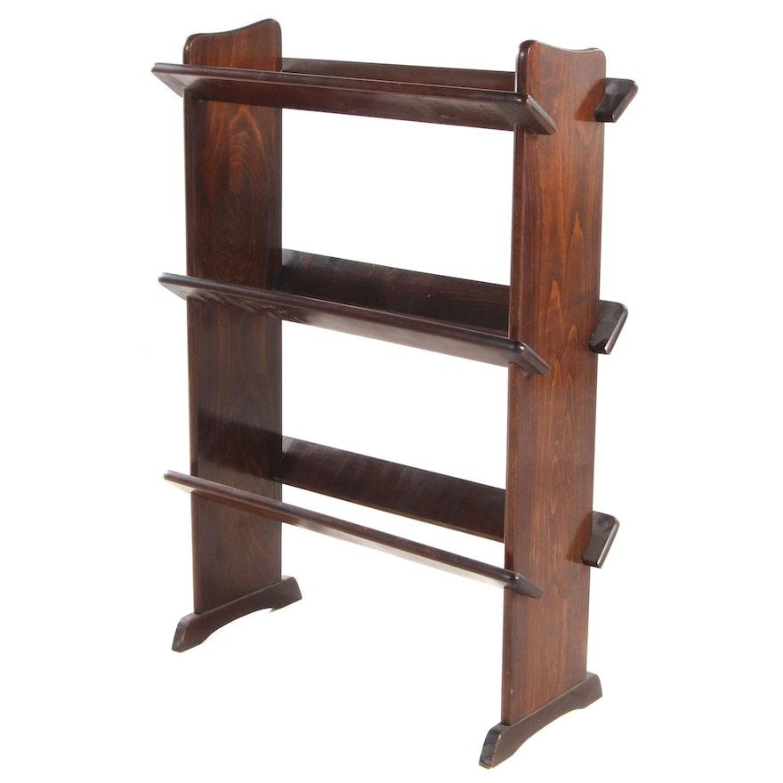 Three-Tiered Pine Book Trough