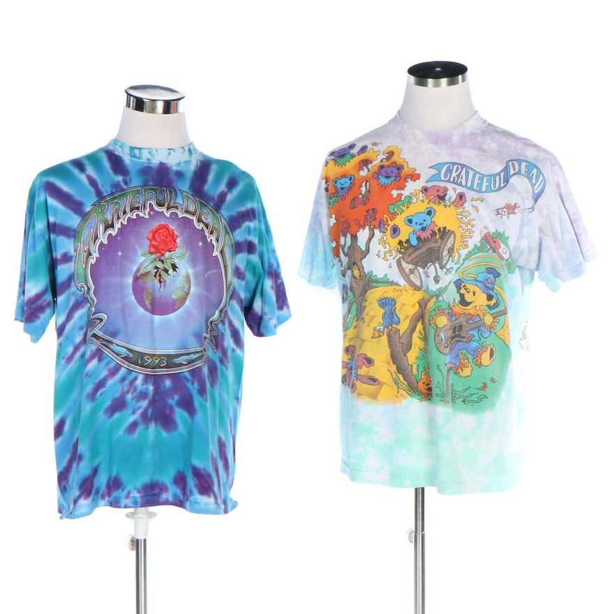 Grateful Dead 1993 Summer Tour and Rise & Fall Tour T-Shirts