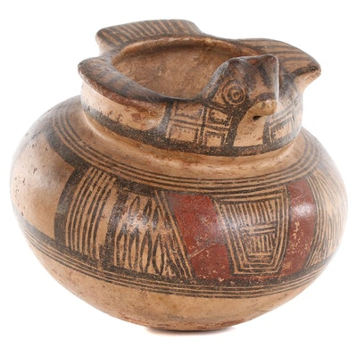 Panamanian Pre-Colombian Tonosi Style Bird-Shaped Earthenware Pot